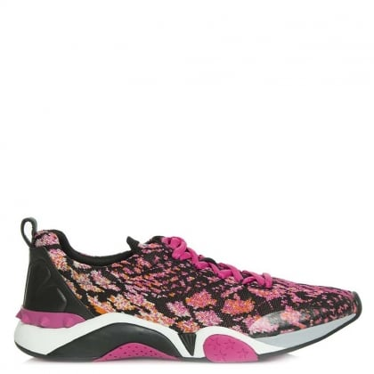 Ash Hit Fuchsia Python Knit Trainer