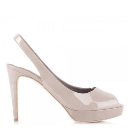Kennel & Schmenger Civil Beige Peep Toe Sling Back Shoe
