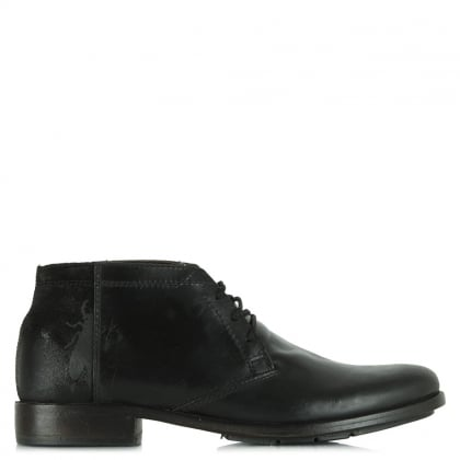 Fly London Peet Black Leather Men's Boot