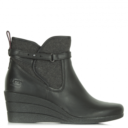 UGG Black Emalie Women's Wedge Ankle Boot