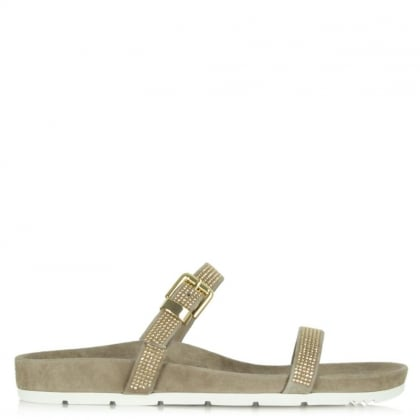 Kennel & Schmenger Taupe Suede Leather Pyewacket Sandal