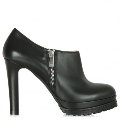 Daniel Black Leather Regents Park Platform Shoe Boot