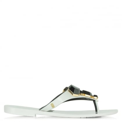 Melissa Colour Crystal White Flip Flop