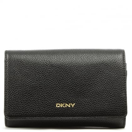 DKNY Chelsea Black Leather Carryall Wallet