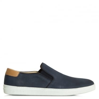 Daniel Trowbridge Navy Nubuck Sporty Slip On Pump