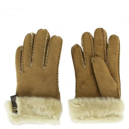 UGG Tenney Tan Suede Women's Gloves