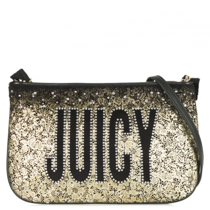 Juicy Couture Pretty Velour Glitter Cross-body Bag