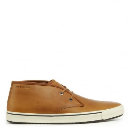 Rockport Chukka Brown Leather Lace Up High Top