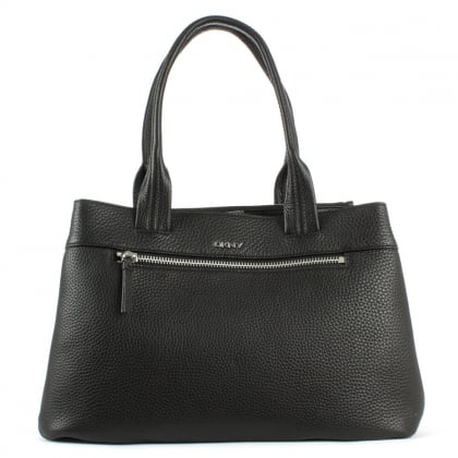 DKNY Tribeca Black Tumbled Leather Shopper