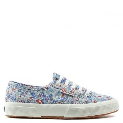 Superga Liberty 2750 Rainbow Rave Blue Lace Up Trainer