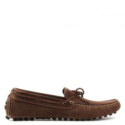 Roman Rock Rocky 104 Brown Suede Driving Moccasin