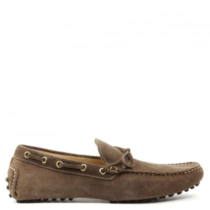 Roman Rock Rocky 107 Taupe Suede Driving Moccasin