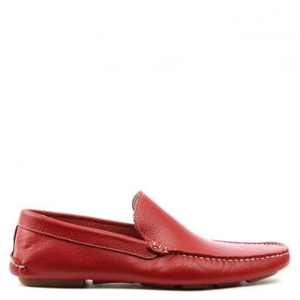 Roman Rock Rocky 106 Red Soft Leather Loafer