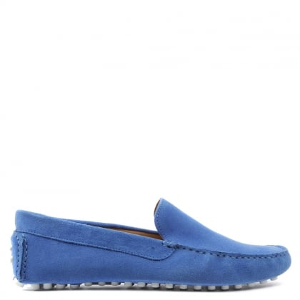 Roman Rock Rocky 105 Blue Suede Driving Moccasin