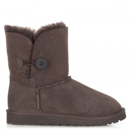 UGG Kids Bailey Button Chocolate Flat Calf Boot