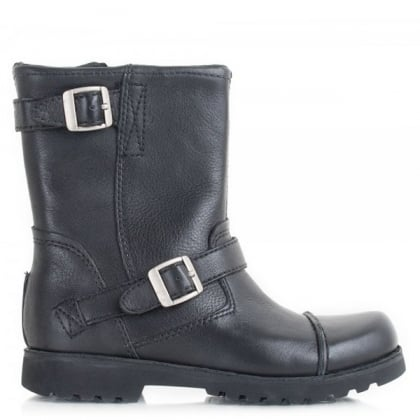 UGG Australia Kids Cowen Black Leather Boot