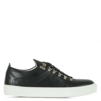 Bronx Wylde Five Men's Black Leather Lace Up Sporty Low Top