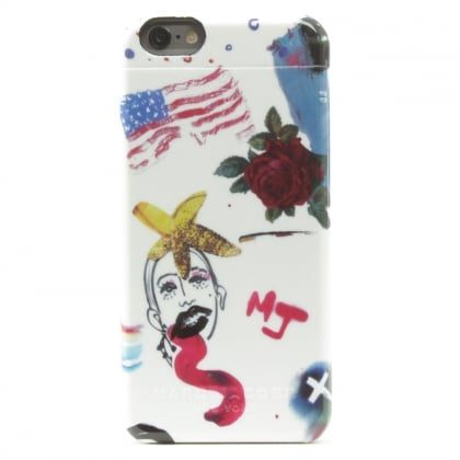 Marc Jacobs Collage Print Concealed Mirror White iPhone 6/6S Case
