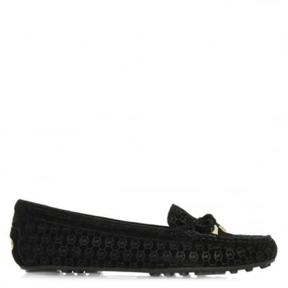Michael Kors Daisy Black Suede Logo Loafer