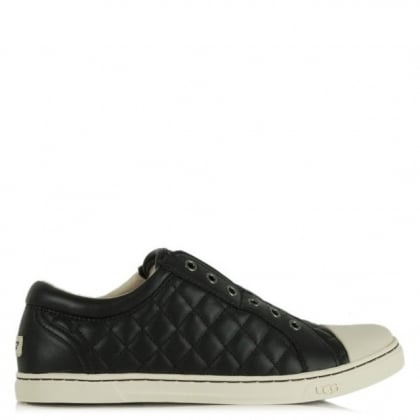 UGG Australia Jemma Quilted Black Leather Trainer