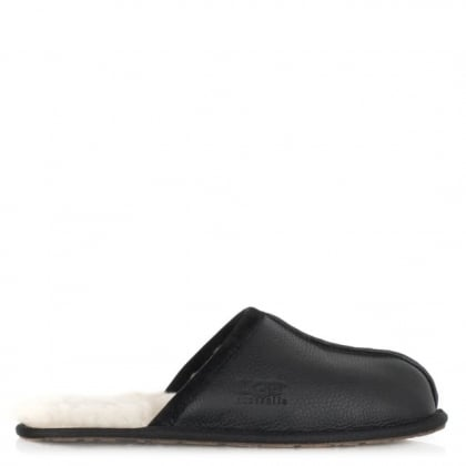 UGG Australia Men's Scuff Black Suede Slipper