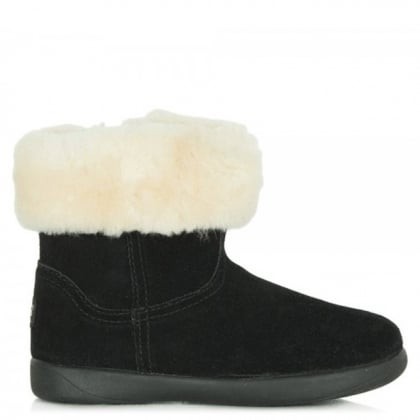 UGG Kids Jorie II Black Suede Ankle Boot
