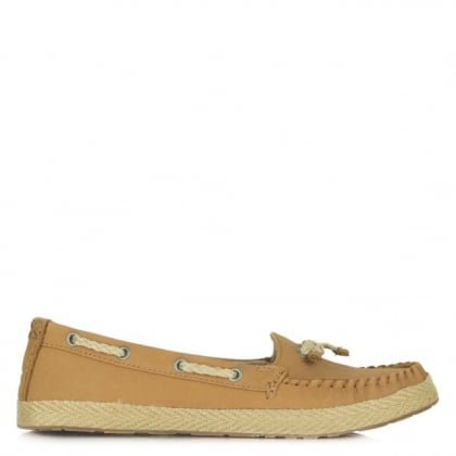 UGG Tan Leather Chivon Moccasin Espadrille