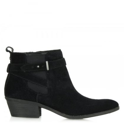 Sam Edelman Black Pacific Women's Suede Ankle Boot
