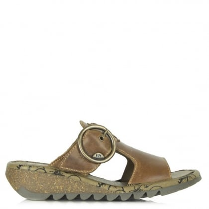 Fly London Tan Leather Tute Sandal