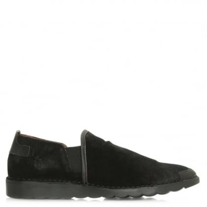 Fly London Men's Cox Black Suede Slip On Pump