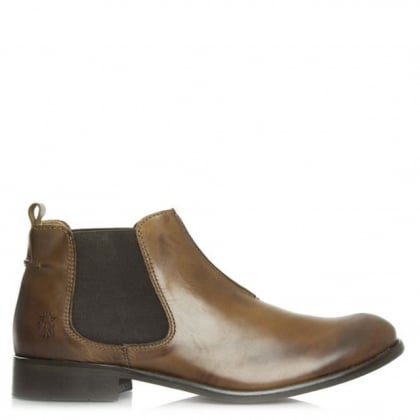 Fly London Waze Camel Leather Chelsea Ankle Boot