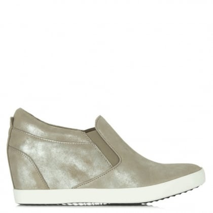 Kennel & Schmenger Taupe Metallic Ragdoll Wedge Trainer