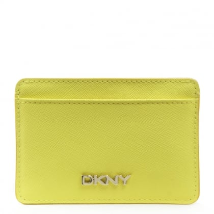 DKNY Bryant Park Yellow Leather Card Holder