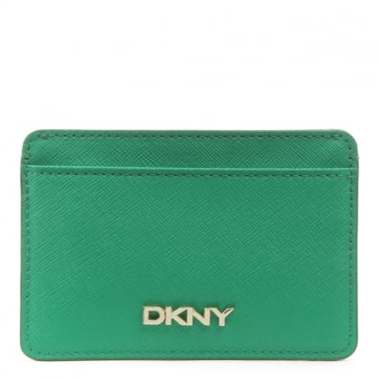 DKNY Bryant Park Grass Leather Card Holder