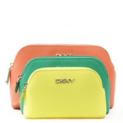 DKNY Bryant Parks 3 Multicolour Leather Pouches
