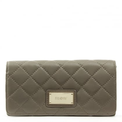 DKNY Gansevoort Quilted Desert Leather Large Carryall Wallet