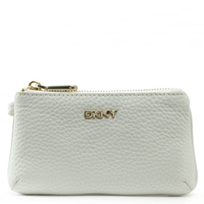 DKNY Tribeca Soft White Leather Pouch