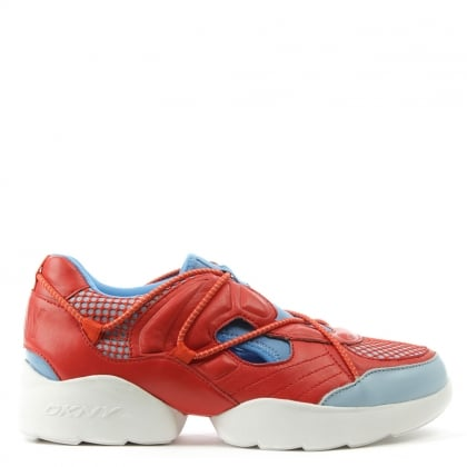 DKNY Poppy Red Double Pod Runner Trainer