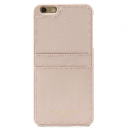 Michael Kors iPhone 6 Plus Pale Pink Saffiano Leather Smartphone Case