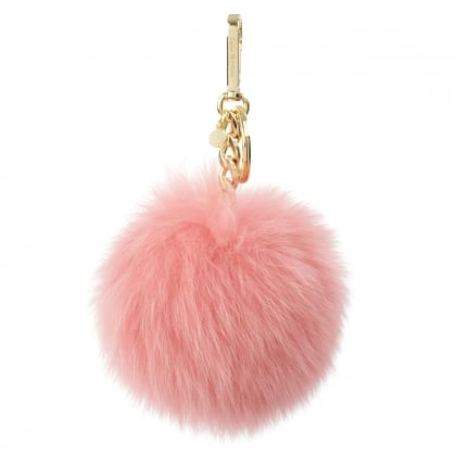 Michael Kors Extra Large Fuchsia Fur Pom Pom Key Ring