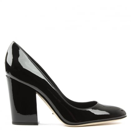 Sergio Rossi Black Patent Virginia High Court Shoe