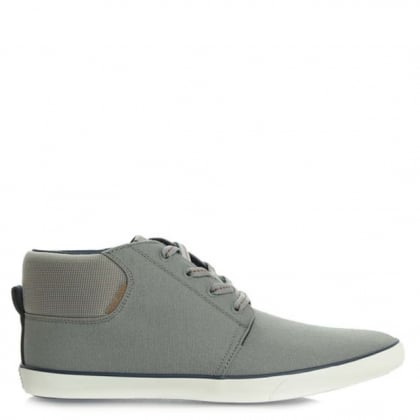 Jack & Jones Vertigo Grey Lace Up Canvas High Top