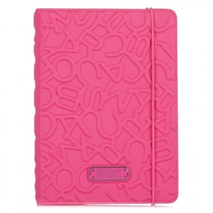 Marc Jacobs Scrambled Logo Pink Neoprene iPad Air Notebook Case