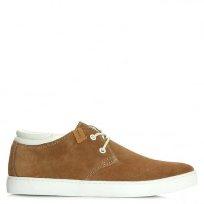 Jack & Jones Hamlin Tan Suede Lace Up Mid Top Trainer