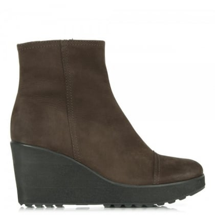 Kennel & Schmenger Brown Suede 81 51150 Women's Wedge Ankle Boot