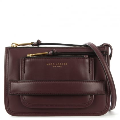 Marc Jacobs Madison Burgundy Leather Cross-Body Bag