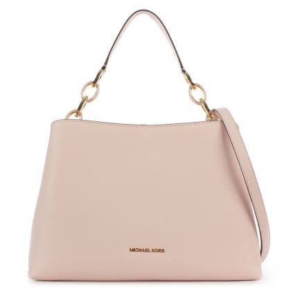 Michael Kors Portia Large Pale Pink Saffiano Leather Shoulder Bag