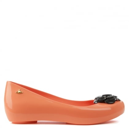 Vivienne Westwood Ultragirl Flower Orange Ballet Pump