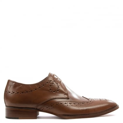 Gucinari Tan Leather Swirl & Punch Brogue