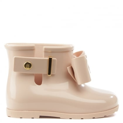 Melissa Mini Sugar Pink Bow Rainboot